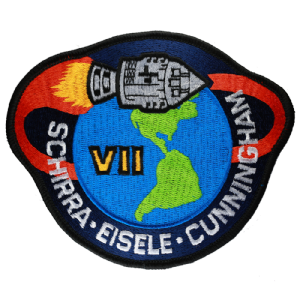 "NASA Apollo 7 Patch 4"" Embroidered Mission Patch"